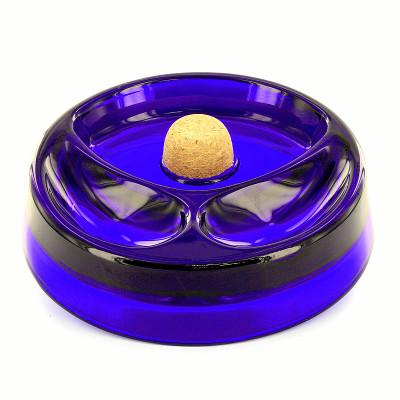 Купить Пепельница для трубки 34136 стекло синяя в Уфе в магазине Tabakos