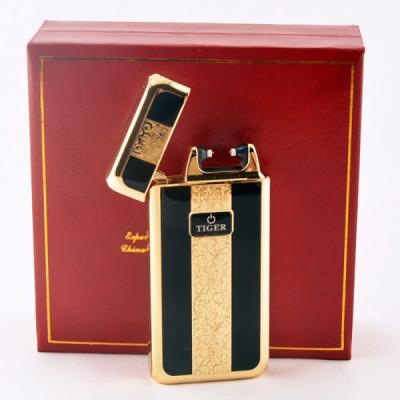 Купить Электронный прикуриватель тайгер (tiger) 909 в-01 золотисто-черный в Уфе в магазине Tabakos