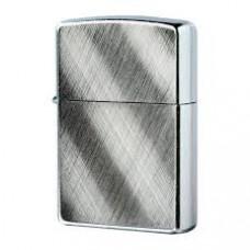 Зажигалка зиппо классик с покрытием брушед хром серебристая матовая 28182 диагональные линии