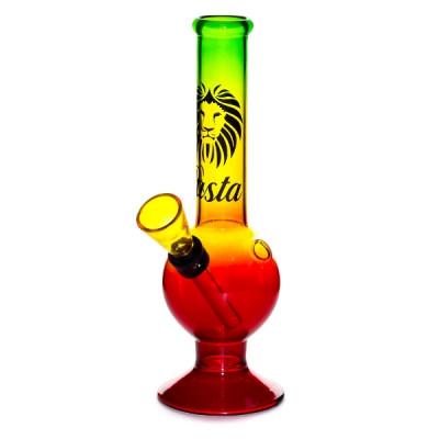 Купить Бонг стекло 16 см раста вышибала 01113N в Уфе в магазине Tabakos