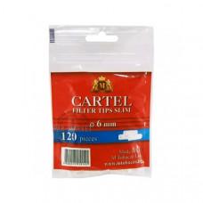 Фильтр сигаретный картель (cartel) слим угольный 6 мм