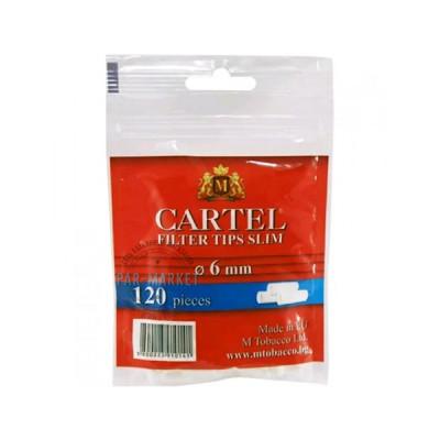 Купить Фильтр сигаретный картель (cartel) слим угольный 6 мм в Уфе в магазине Tabakos