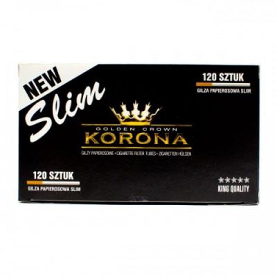 Купить Гильзы сигаретные корона слим 14/18 мм (120 шт) в Уфе в магазине Tabakos