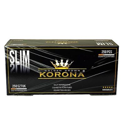 Купить Гильзы сигаретные корона слим блек 15 мм (250 шт) в Уфе в магазине Tabakos