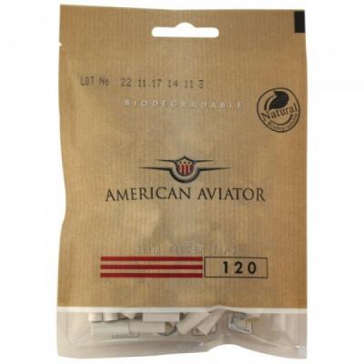 Купить Фильтр сигаретный американский авиатор (american aviator) слим органик 6 мм в Уфе в магазине Tabakos