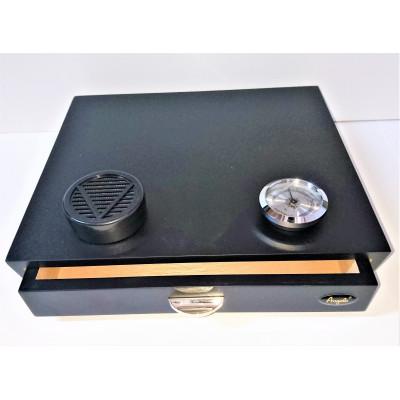 Хьюмидор на 10 сигар анжело черный матовый 920017А