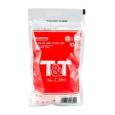 Купить Фильтр сигаретный Т&Т регуляр лонг 8/22 мм (100) в Уфе в магазине Tabakos
