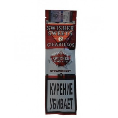 Купить Сигариллы свишер (Swisher) сладость клубники 2 шт в Уфе в магазине Tabakos