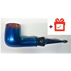 Трубка лорензетти блю бриар (Lorenzetti Blue Bria) (9мм) 05 + подставка