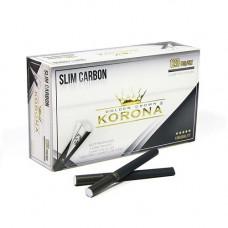 Гильзы сигаретные корона (korona) слим угольные 15 мм (120 шт)