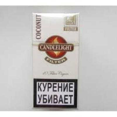Купить Сигариллы свечка (candlelight) кокос мини 10 шт  в Уфе в магазине Tabakos