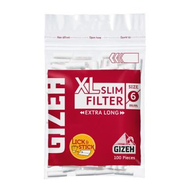 Купить Фильтр сигаретный гизех (gizeh) слим икс-лонг 6 мм (100) в Уфе в магазине Tabakos
