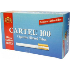 Гильзы сигаретные картель (cartel) угольный фильтр 100 шт