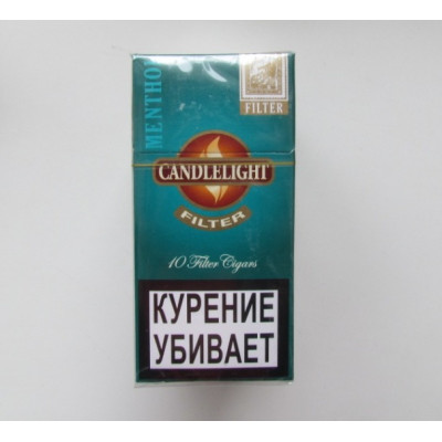 Купить Сигариллы свечка (candlelight) ментол 10 шт в Уфе в магазине Tabakos