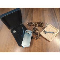 Трубка сувенирная метал с зажигалкой солопайп tz1006