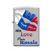 Зажигалка зиппо (zippo) с любовью от россии 206
