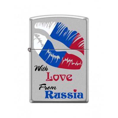 Купить Зажигалка зиппо (zippo) с любовью от россии 206 в Уфе в магазине Tabakos