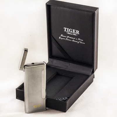 Купить Зажигалка тайгер пьезо турбо металл хром lc 885 j02 в Уфе в магазине Tabakos