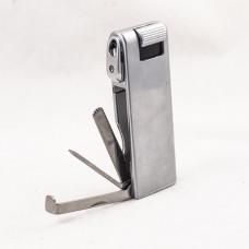 Зажигалка трубочная фаро (faro) серебристая с тампером 24117