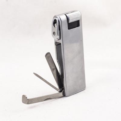 Купить Зажигалка трубочная фаро (faro) серебристая с тампером 24117 в Уфе в магазине Tabakos